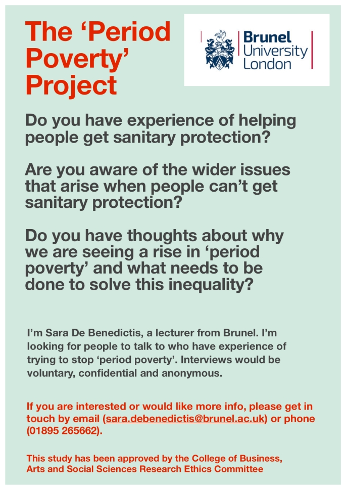 period poverty call for participants poster group a
